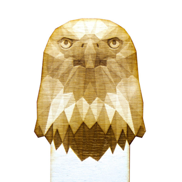 Engraved Wood Bookmarks - Geometric Animals - eagle - lumengrave