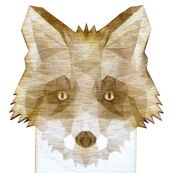 Engraved Wood Bookmarks - Geometric Animals - fox - lumengrave