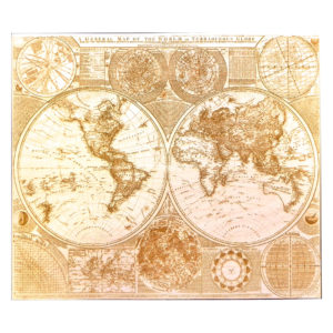 1787 Engraved Wood World Map - Main - Lumengrave